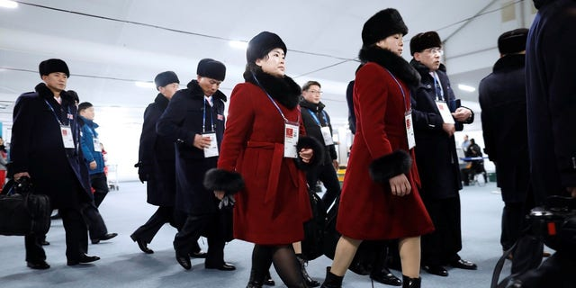 The North Korean athletes arrived in South Korea on Thursday for the Winter Olympics.