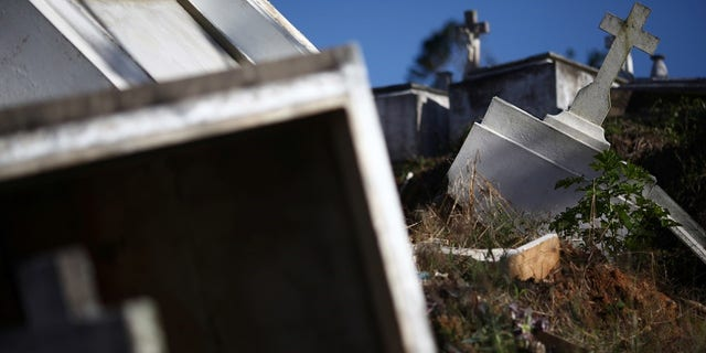 Graves destroyed during Hurricane Maria.
