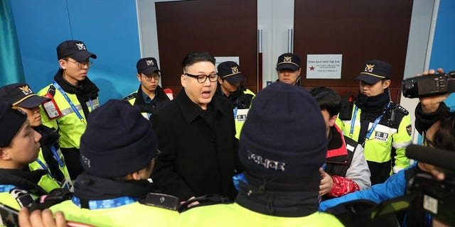 The Kim lookalike said he was detained by police for about 30 minutes.