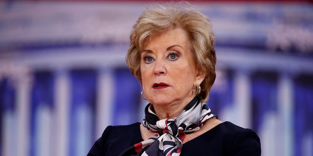 Linda McMahon became the Small Business Association administrator in February 2017.