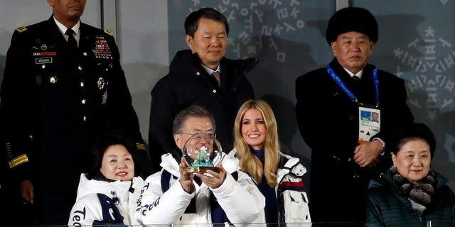 Kim Yong Chol sat a row behind Ivanka Trump during the closing ceremony of the Pyeongchang Winter Olympics.