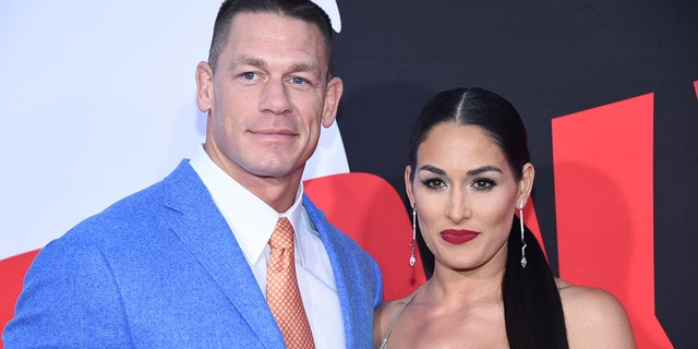 "John Cena and ex-girlfriend Nikki Bella attended the premiere of ""Blockers"" in Los Angeles."