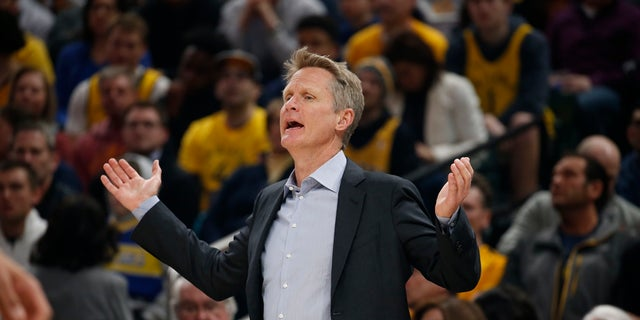 """Golden State Warriors coach Steve Kerr derided the NFL for it's """"fake patriotism"""" and """"idiotic"""" new rule requiring players and personnel stand for the national anthem."""