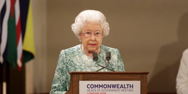 Queen Elizabeth at Commonwealth Heads of Government Meeting.