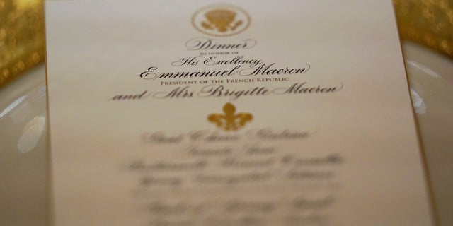 """The menu for President Trump's first state dinner with French President Emmanuel Macron includes """"the best of America's cuisines and traditions, with nuances of French influence."""""""
