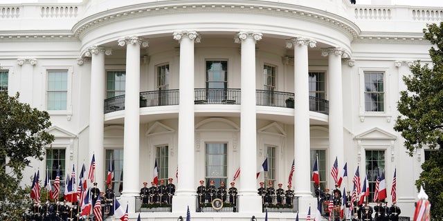 When the Macrons arrived at the White House Tuesday, they were greeted with much fanfare.