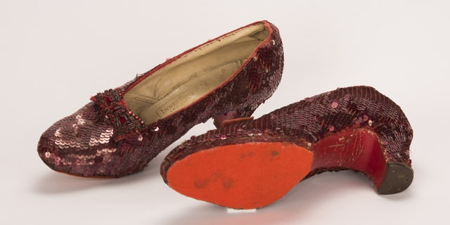 The iconic shoes were one of at least four pairs used in The Wizard of Oz that are still in existence.