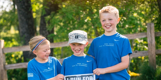 John and Lisa Hallett's children,Heidi, Bryce and Jackson, seen here after a Memorial Day road race, will never forget their dad. (Courtesy: Ingrid Barrentine}