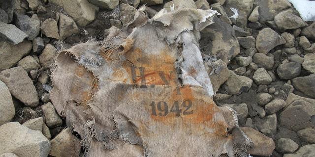 Fragment of a bag found at Alexandra Land island (Yulia Petrova).
