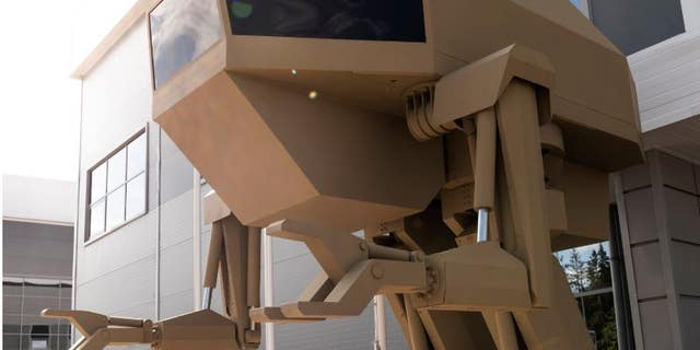 A Russian weapons manufacturer displayed a prototype of a killer robot that could pick up and fire weapons.