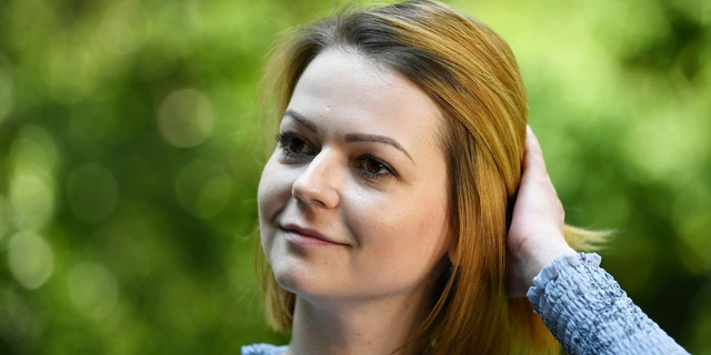 Yulia Skripal poses for the media during an interview in London, Wednesday May 23, 2018. Yulia Skripal says recovery has been slow and painful, in first interview since nerve agent poisoning.