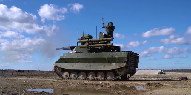 "The new ""Uran-9"" robo-tank has already been deployed in Syria (Facebook/Ministry of Defence of the Russian Federation)"