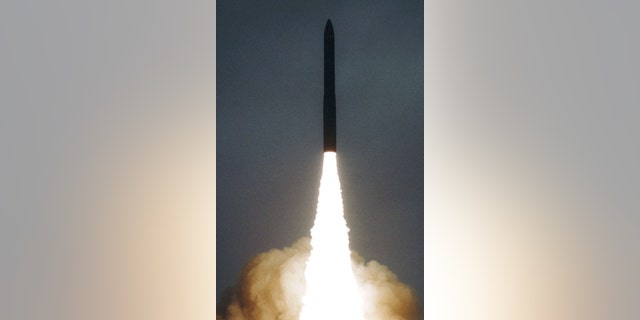 File photo - A Russian Topol-M intercontinental balistic missile lifts off during a new test launch at the Plesetsk launch site in northern Russia Sept. 26, 2000. (Reuters)