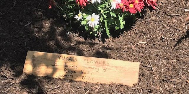 Char Jackson, the fire department's spokeswoman, said Ruya's mother helped to build the garden.