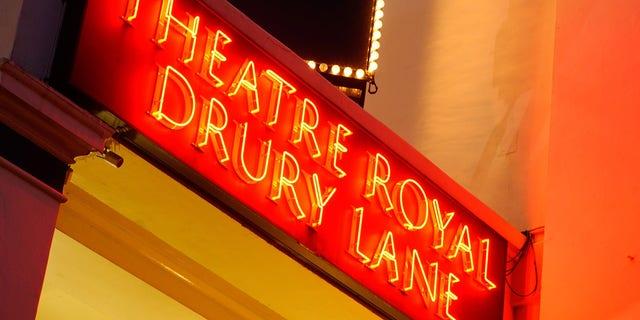 BF8FXE Neon Sign. Theatre Royal Drury Lane. London. UK 2009.