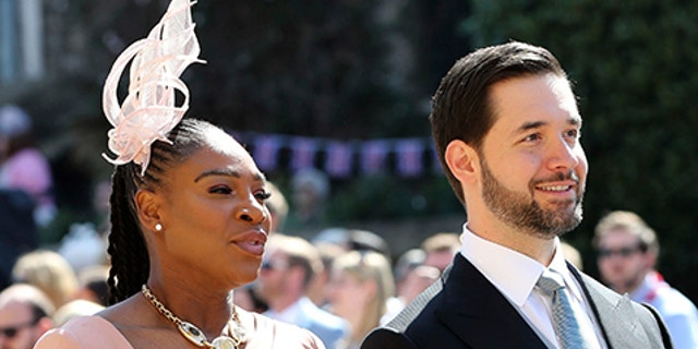 Serena Williams and Alexis Ohanian were all smiles for the May 19 festivities.