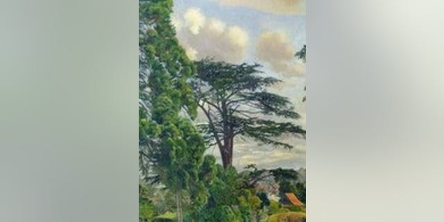 The painting was taken in 2012 from Stanley Spencer Gallery in Cookham, Britain.