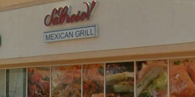 The Mexican grill staff told customers to move before the woman came crashing through the ceiling.