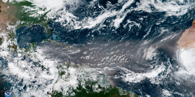 Dust from the Sahara Desert in Africa recently blanketed the Atlantic Ocean, limiting tropical activity.