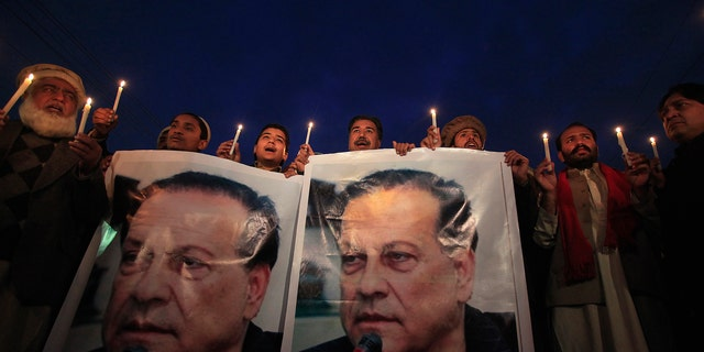 There have been at least 67 murders over unproven allegations of blasphemy since 1990, though the actual figure is thought to be much higher. Among them was Salman Taseer (above), the governor of Punjab province, who was gunned down by his bodyguard in 2011 after calling for a reform of the blasphemy laws.