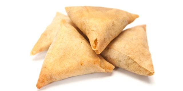 Witnesses told a local paper that samosas' ubiquitous three-cornered shape may invoke thoughts on the Holy Trinity