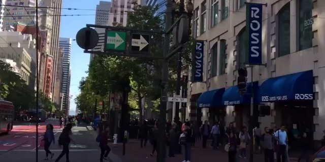 Traffic lights were out in San Francisco.