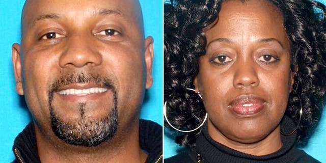 Police say Cedric Anderson, left, shot and killed his estranged wife, Karen Smith