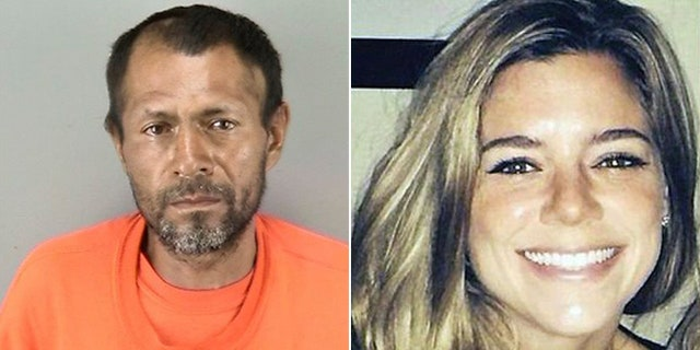 Jose Ines Garcia Zarate (left) admitted to shooting Kate Steinle (right) on a San Francisco pier in 2015 but said it was an accident.