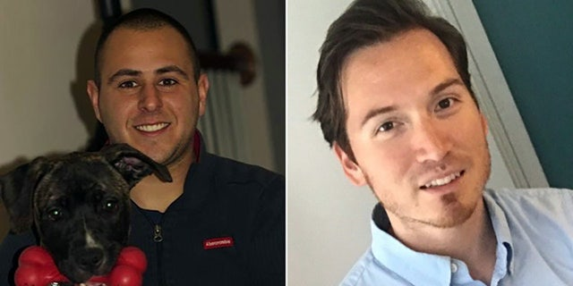 Maryland fire marshal Sander Cohen, left, and FBI agent Carlos Wolff were mowed down and killed on a Maryland highway last December.