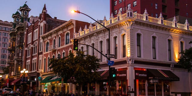 San Diego's Gaslamp Quarter is listed in the National Register of Historic Places.