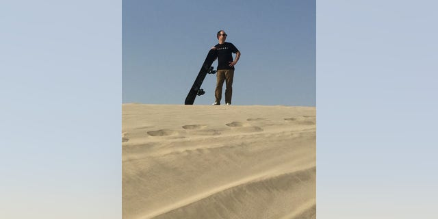 To sandboard, though, the sand has to be more than just abundant: the dunes need at least a 20-degree angle and the sand should be clean.