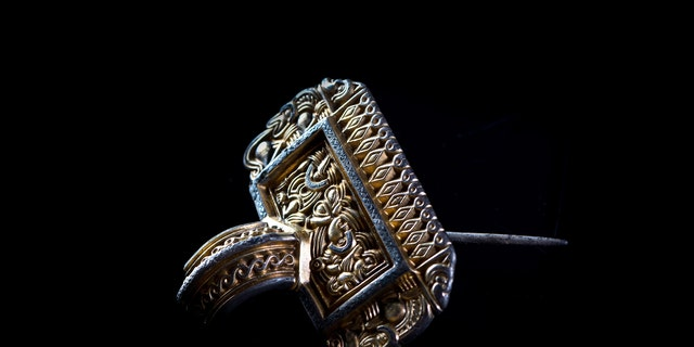 An ornate silver brooch discovered at Sandby borg
