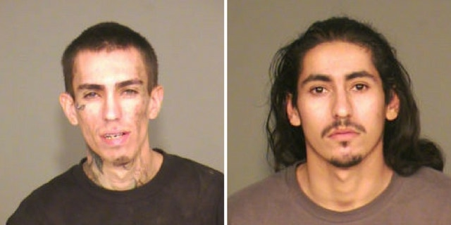 Michael Hart, left, and Rafael Santos, right, were arrested Tuesday in connection with the shooting at an Arizona barbershop.