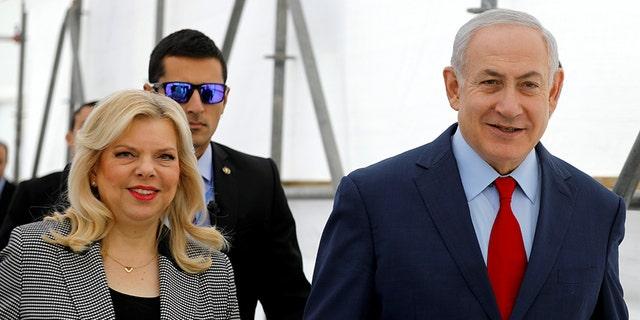 "Israeli Prime Minister Benjamin Netanyahu and his wife Sara attending a dedication ceremony of the ""Assuta"" hospital in Ashdod, Israel December 21, 2017."