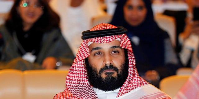 Saudi Crown Prince Mohammed bin Salman attends the Future Investment initiative conference in Riyadh, Saudi Arabia, Oct. 24, 2017.