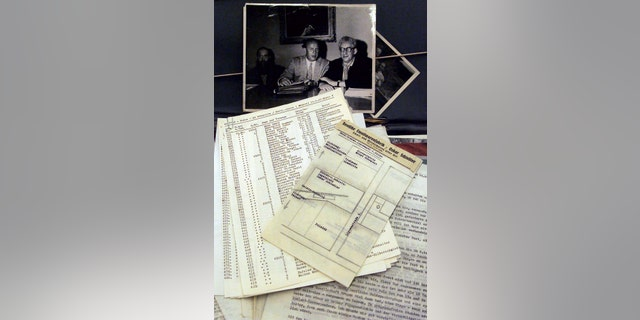 """File photo - The original copy of a list of over 1,200 Polish Jews known as Schindler's List is shown in Stuttgart, Oct. 15. During the Second World War, Oskar Schindler was responsible for saving the lives of Polish Jews. The story became famous through the Booker Prize winning novel """"Schindler's Ark,"""" that was later made into an Academy Award winning film by well known Hollywood director Steven Spielberg titled """"Schindler's List"""". (Reuters)"""