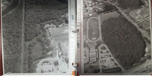 Aerial maps of a water treatment plant and two schools that deputies say were recovered from the home of Randall Drake.