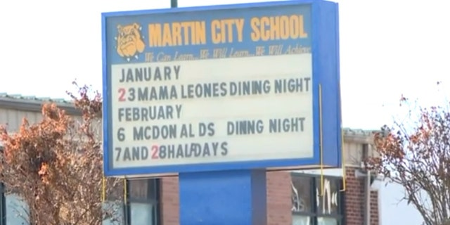 Martin City Elementary School suspended the kindergartner for 10 days.