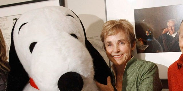 Charles Schulz's widow, Jean, was able to escape the wildfires.