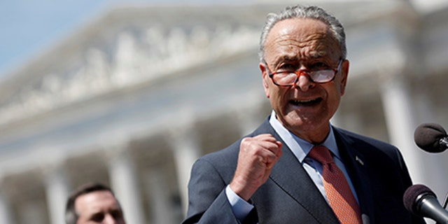 Senate Minority Leader Chuck Schumer speaks during a press conference for the Democrats' new economic agenda on Capitol Hill in Washington, U.S., August 2, 2017. REUTERS/Aaron P. Bernstein - RTS1A4Y9