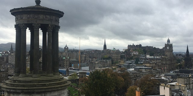The scenic views of Edinburgh can be seen from the top of hills surrounding the city.
