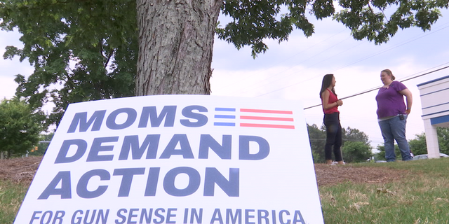 """Leader of the Moms Demand Action Georgia Chapter, Page Rast, says the first word that came to mind when she watched Brian Kemp's ad was """"irresponsible."""""""