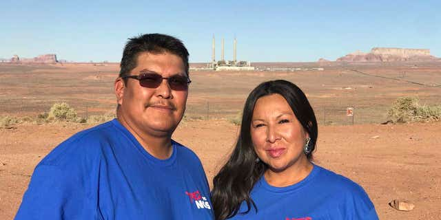 """Myron Richardson, a coal miner at Kayenta mine, pictured with his wife. """"This is home…why can't I have the same opportunity as everybody else in the world to work from home--why do I have to leave because they want to shut the plant down earlier than what the federal government has regulated them to,"""" Richardson said."""