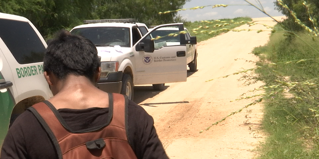 Border patrol agents stop a 16-year-old trying to cross the U.S.-Mexico border.