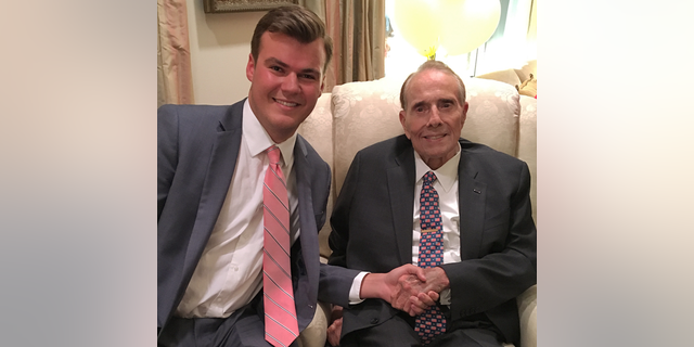 Eric Pahls and former Senate Republican leader and presidential candidate Bob Dole.