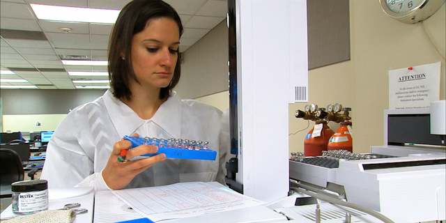 Scientist Karlie McManaman has been analyzing drugs at GBI for six years.