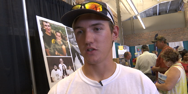 Dalton Jack talks about missing girlfriend, Mollie Tibbetts, at Iowa State Fair on Friday, August 10, 2018.