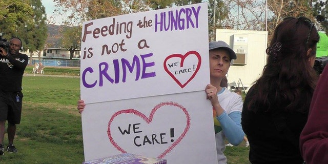 The California city, El Cajon, issued a city ordinance in October that banned food sharing in public spaces because of a devastating Hepatitis A outbreak.
