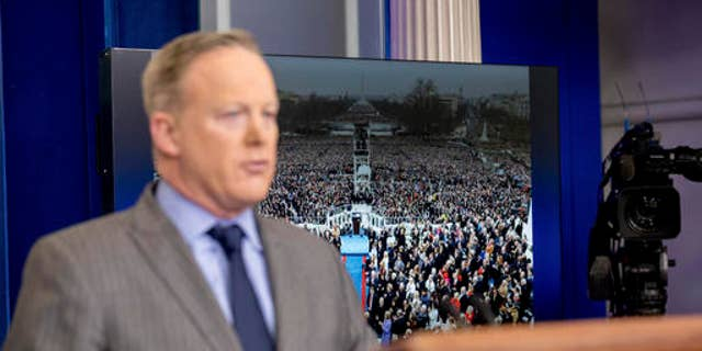 Sean Spicer, one of those alleged to have been instructed by the president to urge Jeff Sessions against recusal.