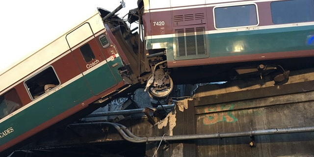 The Amtrak train derailed Monday morning after leaving the new Tacoma station.